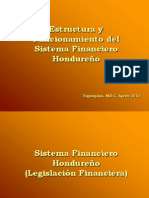 Estructura y Funcionamiento Del Sistema Financiero Hondureno Icevic Ago 2013