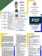 International Conference Brouchure- On Training & Development