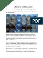 Drogas Para Bacterias Multiresistentes