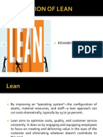 Application of Lean