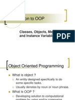 01 - Introduction to Object Oriented Programming
