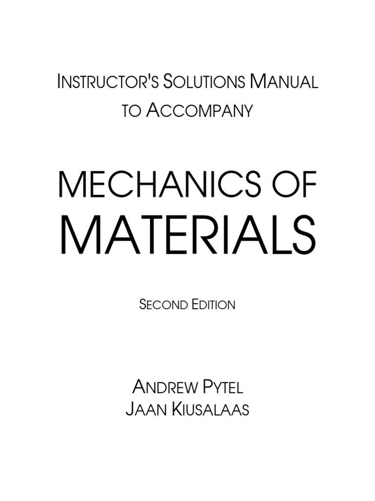 Wrg-1178] engineering mechanics andrew pytel solution manual.