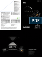 Sony A900 Brochure