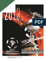 Reglamento Copa Libertadores 2013 PDF 1 1