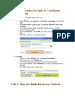 Cara Menggunakan Formula Di Conditional Formatting