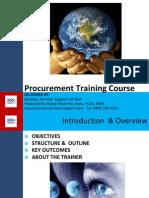 Procurement Training Introduction to Procurement Final Version