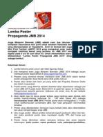 lomba poster propaganda jmb 2014