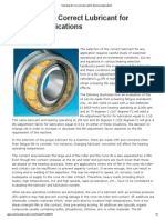 Selecting the Correct Lubricant for Bearing Applications