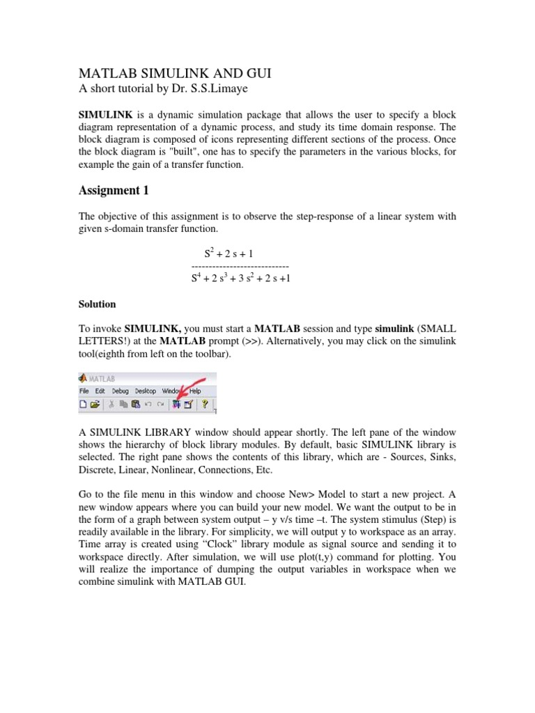 Simulink starter matlab parameter computer programming ccuart Choice Image