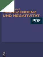 Rentsch Thomas, Transzendenz und Negativität Religionsphilosophische und Asthetische Studien    2010 copia