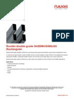 Ruukki Double Grade S420MH S355J2H Rectangular