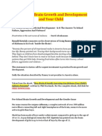 Pre-School Brain Growth and Development and Your Child