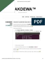 Flashdisk Read Only di Ubuntu