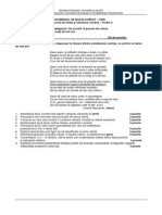 Variante Limba Romana BAC 2015 pentru pregatire