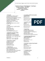 Subiecte Farmacie Botanica Chimie Anorganica Varianta 1