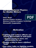 Surface Material Physics for Shader Writers