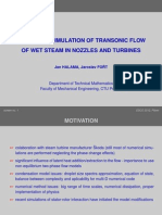 Numerical Simul of Transonic Flow of Wet Steam in Nozzles and Turbines