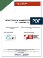 Hizkuntzaren transmisioa haur eta gazteengan (II)
