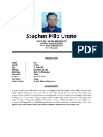 Stephen Pillo Unato CV