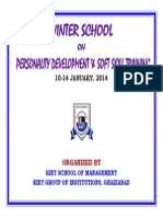 Winter School on Corporate and soft skills 