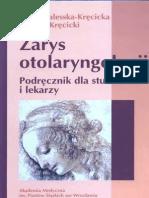 Zarys Otolaryngologii Kręcicka Kręcicki