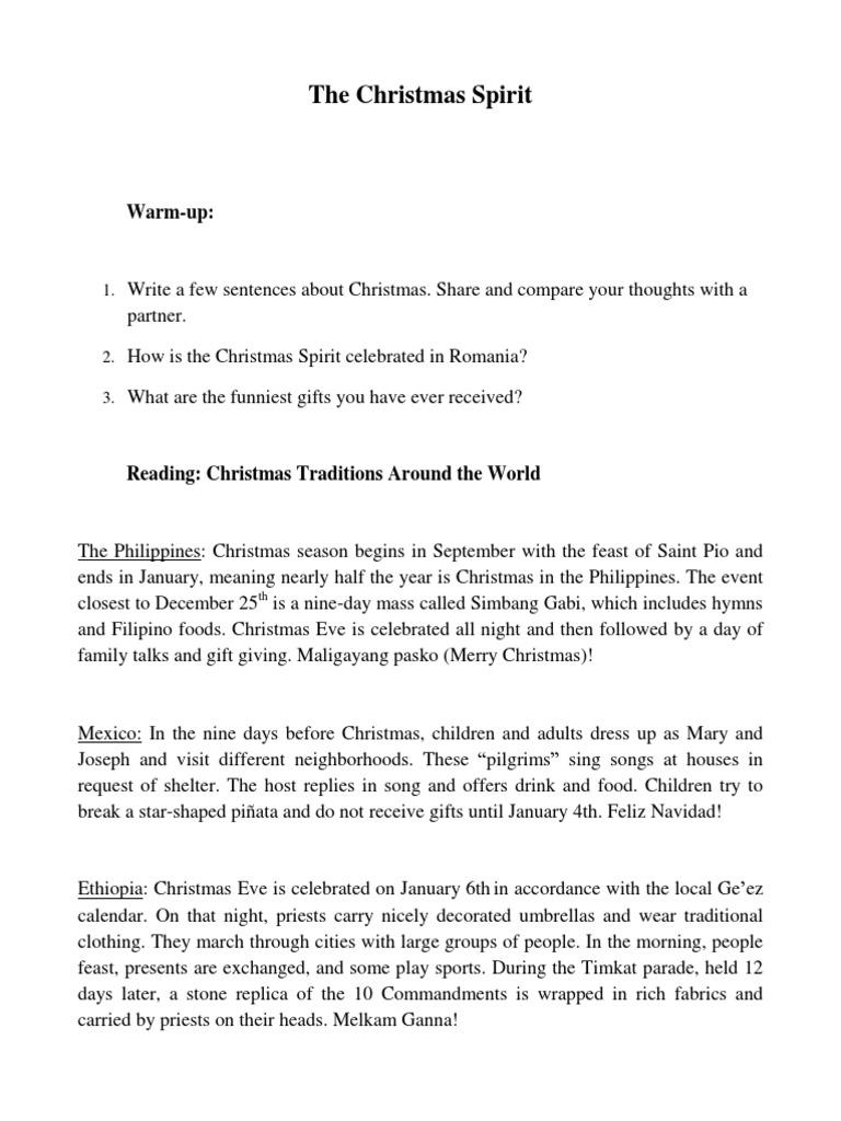 The Christmas Spirit | Christmas Eve | Christmas