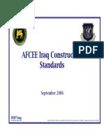 AFCEE Iraq Construction Standards Final-06SEP