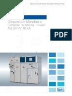 WEG Ccw05 Conjunto de Manobra e Controle de Media Tensao 50030073 Catalogo Portugues Br