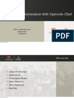 Infrastructure Automation With Opscode Chef Presentation