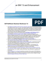SAP NetWeaver BW 7.0 and Enhancement