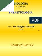 PARASITOLOGIA I Aula 2 Biologia - Inteira