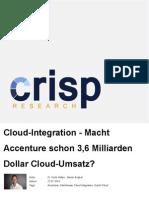 Macht Accenture schon 3,6 Milliarden Dollar Cloud-Umsatz?