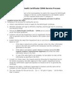 Unified Birth Death Certificate CDMA Service Process