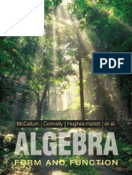 McCallum Algebra Form and Function 3rd edition