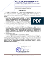 Pronunciamiento Contrato Docente 2014