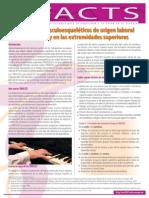 Factsheet 72 - Trastornos Musculoesqueleticos de Origen Laboral en El Cuello y en Las Extremidades Superiores