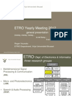 ETRO Yearly Meeting 2012