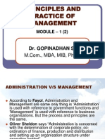 Module 01 administration v/s management