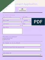 Employmaent Application Form1