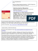 Assessment of Oral Communication