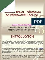 Funcion Renal Formulas Para Estimar El Filtrado Glomerular