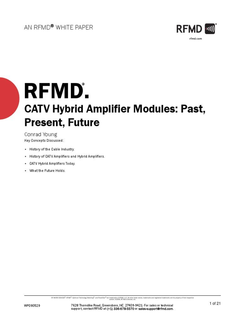 Catv Hybrid Amplifier Modules Past Present Futurewp Cable Tv Signal Booster Circuit Diagram Television