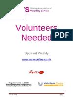 January Volunteers Needed