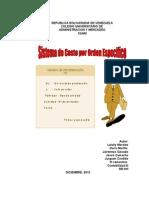 El sistema de costos por órdenes específicas