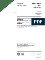NBR IEC 60079-15 2007