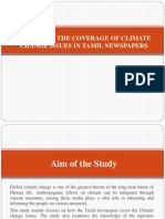 A Study on the Coverage of Climate Change