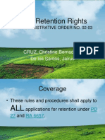 Land Retention Rights (Grp 26)