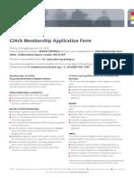 CIArb Membership Application Form