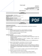 Model de Fisa de Post Pentru Consultant
