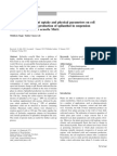 Evaluation of Nutrient Uptake and Physical Parameters on Cell Biomass Growth and Production of Spilanthol in Suspension Cultures of Spilanthes Acmella Murr.